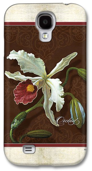 Old Mixed Media Galaxy S4 Cases - Old masters Reimagined - Cattleya Orchid Galaxy S4 Case by Audrey Jeanne Roberts