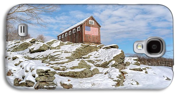 Old New England Barn In Winter Galaxy S4 Case by Bill Wakeley