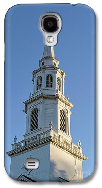 Old New England Church Steeple Concord Galaxy S4 Case by Edward Fielding