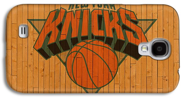 Old New York Knicks Basketball Gym Floor Galaxy S4 Case by Design Turnpike