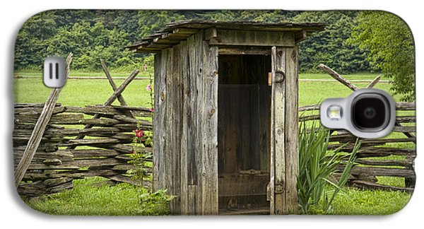 Tennessee Farm Galaxy S4 Cases - Old Outhouse on a Farm in the Smokey Mountains Galaxy S4 Case by Randall Nyhof
