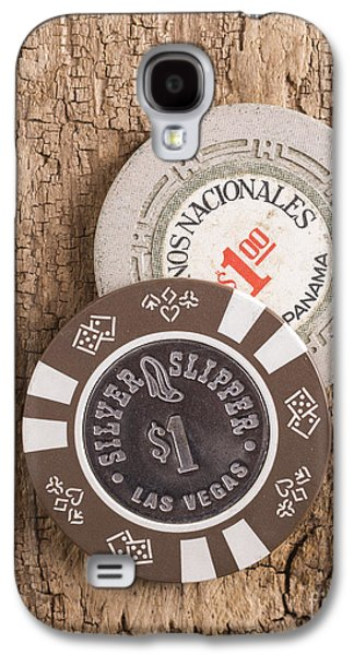 Coins Photographs Galaxy S4 Cases - Old Poker Chips Galaxy S4 Case by Edward Fielding
