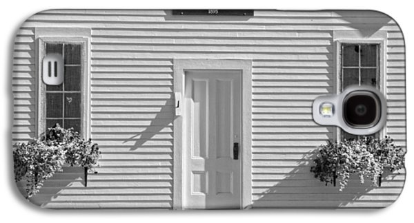 Old Maine Houses Galaxy S4 Cases - Old Schoolhouse Sunday River Maine Black and White Galaxy S4 Case by Keith Webber Jr