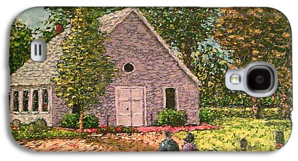 Headstones Paintings Galaxy S4 Cases - Old stome Church Galaxy S4 Case by Frank Morrison