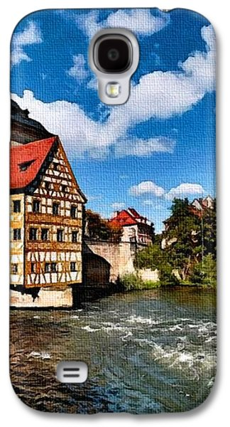 Abstract Digital Pastels Galaxy S4 Cases - Old Town Hall Bamberg Germany H B Galaxy S4 Case by Gert J Rheeders
