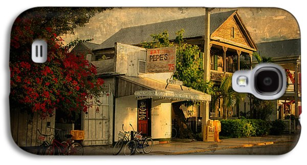 City Scape Galaxy S4 Cases - Old Town -  Key West Florida Galaxy S4 Case by Thomas Schoeller