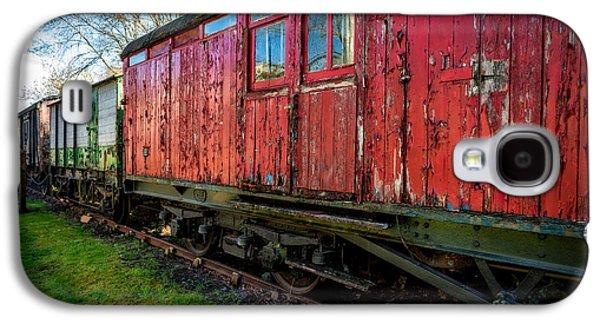 Dilapidated Digital Art Galaxy S4 Cases - Old Train Wagon Galaxy S4 Case by Adrian Evans