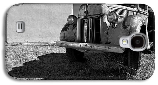 Ancient Galaxy S4 Cases - Old Vehicle VII  BW - Ford Truck Galaxy S4 Case by David Gordon
