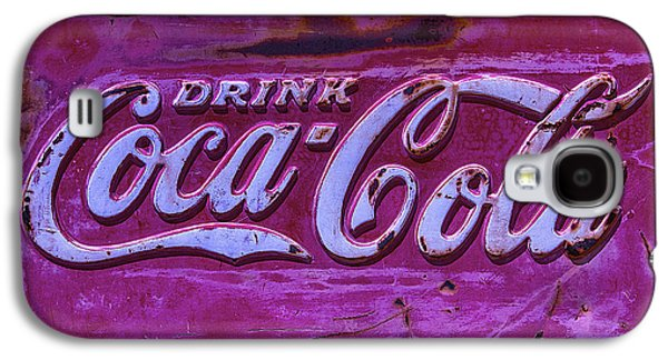 Coca-cola Signs Galaxy S4 Cases - Old Weathered Coke Sign Galaxy S4 Case by Garry Gay