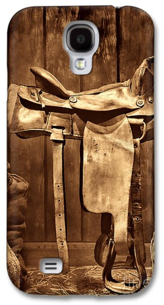 Old Western Saddle Galaxy S4 Case by American West Legend By Olivier Le Queinec