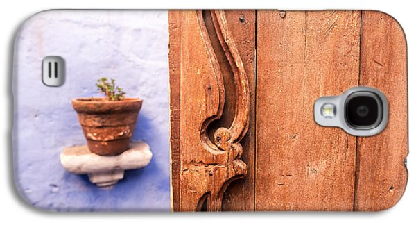 Catherine White Galaxy S4 Cases - Old Wooden Door in Arequipa Galaxy S4 Case by Jess Kraft