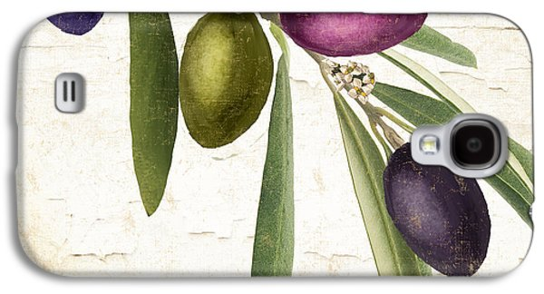Olive Green Galaxy S4 Cases - Olive Branch Galaxy S4 Case by Mindy Sommers