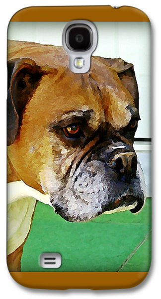Boxer Galaxy S4 Cases - Oliver  Galaxy S4 Case by Raven Hannah