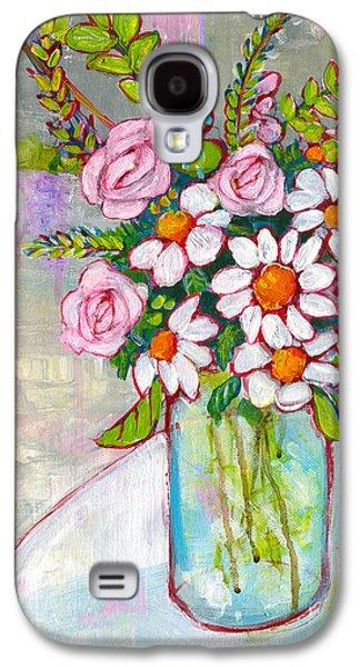 Olivia Daisy Flowers Galaxy S4 Case by Blenda Studio