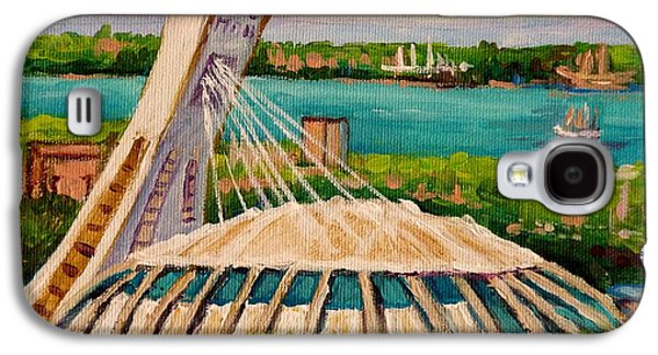 Baseball Stadiums Paintings Galaxy S4 Cases - Olympic Stadium  Montreal Galaxy S4 Case by Carole Spandau