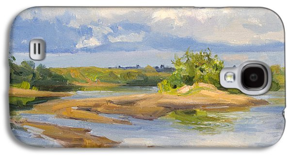 Beach Landscape Galaxy S4 Cases - On  a sandy shallow Galaxy S4 Case by Victoria Kharchenko