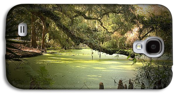 Cypress Swamp Galaxy S4 Cases - On Swamps Edge Galaxy S4 Case by Scott Pellegrin