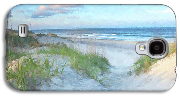 Carolina Galaxy S4 Cases - On The Beach Watercolor Galaxy S4 Case by Randy Steele