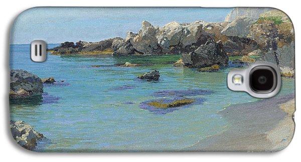 Mediterranean Landscape Galaxy S4 Cases - On the Capri Coast Galaxy S4 Case by Paul von Spaun