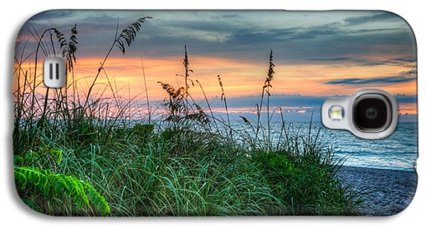 Beach Landscape Galaxy S4 Cases - On the Edge of Sunrise Galaxy S4 Case by Debra and Dave Vanderlaan