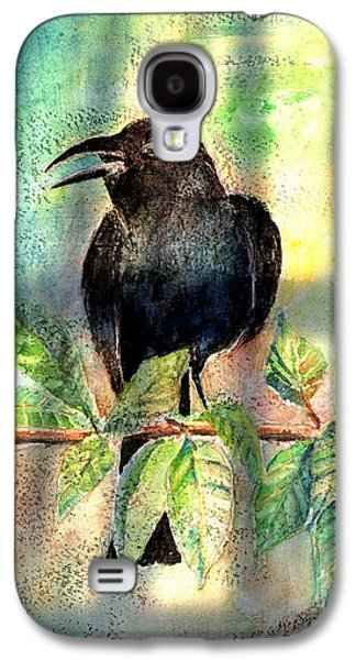 Crows Paintings Galaxy S4 Cases - On The Outside Looking In Galaxy S4 Case by Arline Wagner