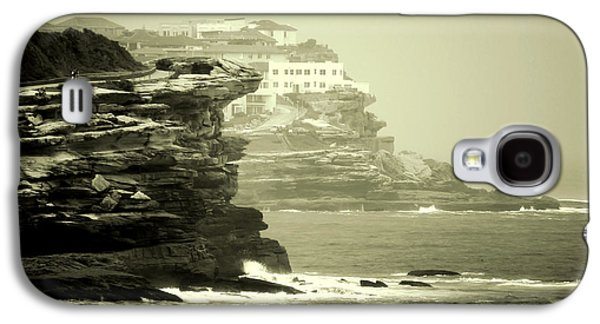 Beach Landscape Galaxy S4 Cases - On the Rugged Cliffs Galaxy S4 Case by Holly Kempe