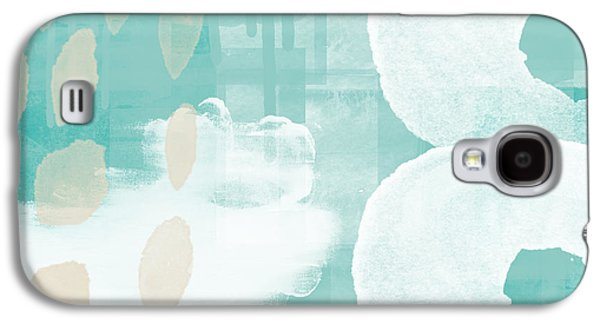 Drips Galaxy S4 Cases - On The Shore- abstract painting Galaxy S4 Case by Linda Woods