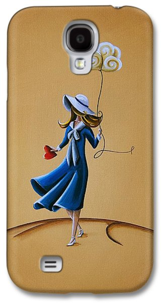 Girl Paintings Galaxy S4 Cases - On The Street Where You Live Galaxy S4 Case by Cindy Thornton