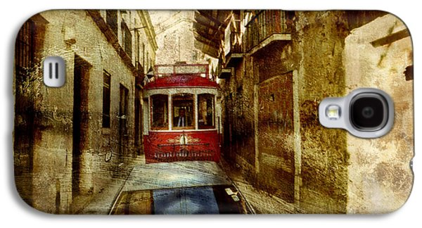 Portuguese Mixed Media Galaxy S4 Cases - On the streets of Lisbon Galaxy S4 Case by Dariusz Gudowicz