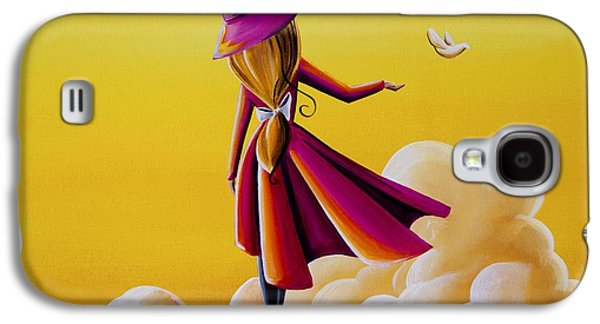 Girl Galaxy S4 Cases - On The Wings Of A Dove Galaxy S4 Case by Cindy Thornton