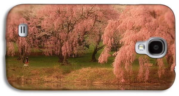 Cherry Blossoms Galaxy S4 Cases - One Spring Day - Holmdel Park Galaxy S4 Case by Angie Tirado