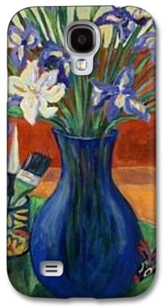 Mug Ceramics Galaxy S4 Cases - One White Iris Galaxy S4 Case by Carol Keiser