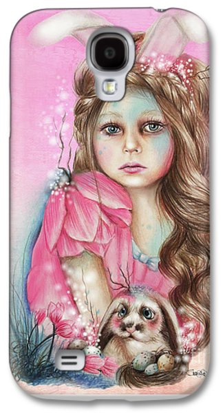 Innocence Mixed Media Galaxy S4 Cases - Only Friend in the World - Bunny Galaxy S4 Case by Sheena Pike