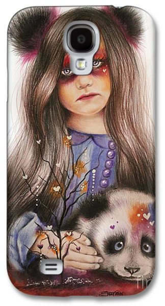 Innocence Mixed Media Galaxy S4 Cases - Only Friend in the World - Panda Precious Galaxy S4 Case by Sheena Pike