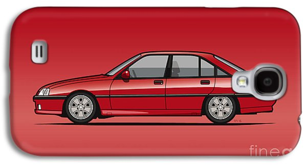 Opel Omega A, Vauxhall Carlton 3000 Gsi 24v Red Galaxy S4 Case by Monkey Crisis On Mars