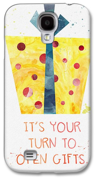 Graduation Galaxy S4 Cases - Open Gifts- card Galaxy S4 Case by Linda Woods