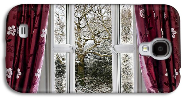Open Window With Winter Scene Galaxy S4 Case by Simon Bratt Photography LRPS
