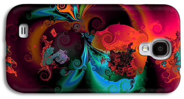 Abstract Digital Digital Galaxy S4 Cases - Opposit parties Galaxy S4 Case by Claude McCoy