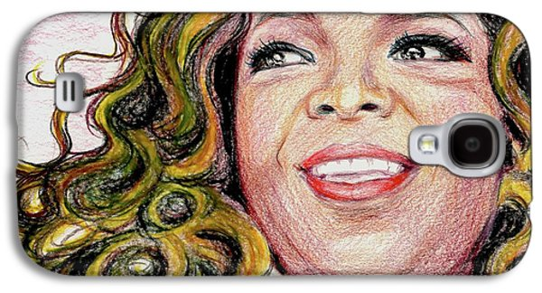 African American Diet Galaxy S4 Cases - Oprah Winfrey Galaxy S4 Case by Yoshiko Mishina
