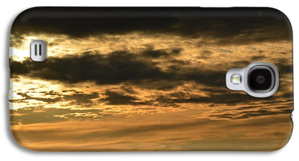 Nature Abstracts Galaxy S4 Cases - Orange and Black Clouds  Galaxy S4 Case by Lyle Crump