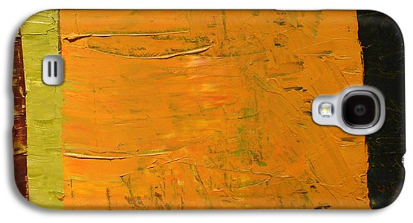 Tangerine Paintings Galaxy S4 Cases - Orange and Brown Galaxy S4 Case by Michelle Calkins