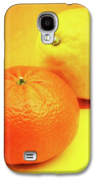 Orange And Lemon Galaxy S4 Case by Wim Lanclus