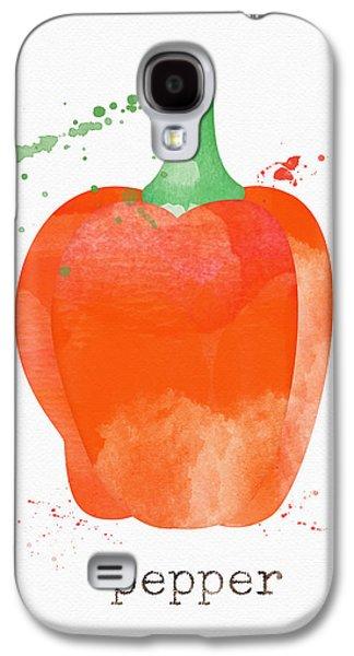 Orange Bell Pepper  Galaxy S4 Case by Linda Woods