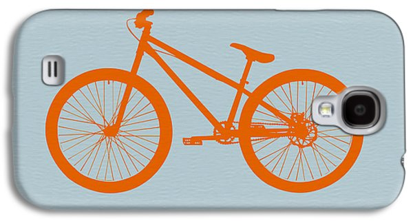 Fun Digital Galaxy S4 Cases - Orange Bicycle  Galaxy S4 Case by Naxart Studio
