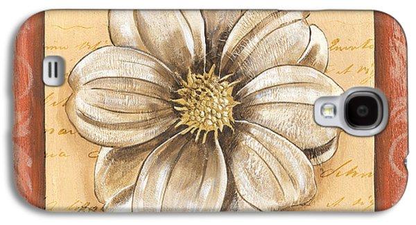 Botanical Galaxy S4 Cases - Orange Bohemian Dahlia 1 Galaxy S4 Case by Debbie DeWitt