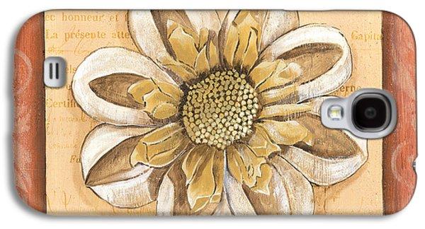 Botanical Galaxy S4 Cases - Orange Bohemian Dahlia 2 Galaxy S4 Case by Debbie DeWitt