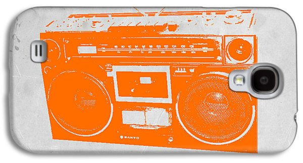 Chair Galaxy S4 Cases - Orange boombox Galaxy S4 Case by Naxart Studio
