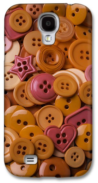 Orange Buttons Galaxy S4 Case by Garry Gay