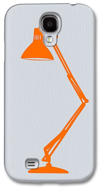 Desk Galaxy S4 Cases - Orange Lamp Galaxy S4 Case by Naxart Studio
