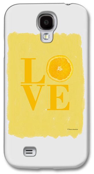 Orange Galaxy S4 Case by Mark Rogan